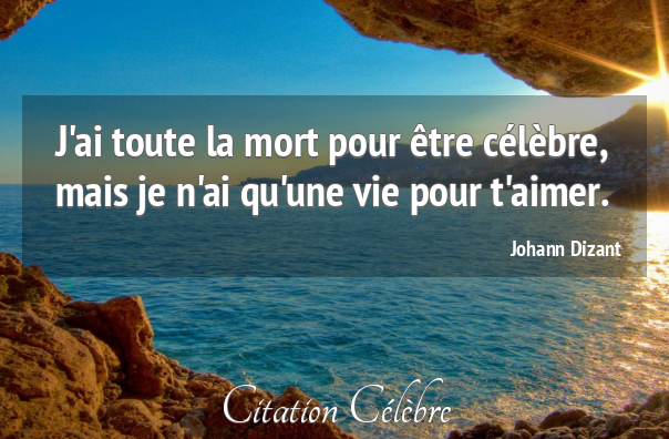 Citation johann dizant